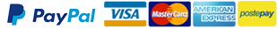 Paga con PayPal, Visa, MasterCard, AmericanExpress, PostePay